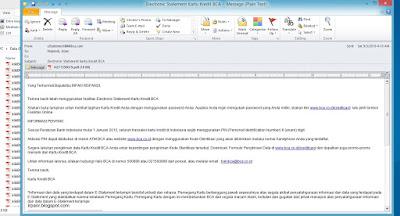Email tagihan Kartu Kredit BCA