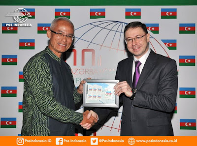 PT. Pos Indonesia launched a special stamp with a map of Azerbaijan