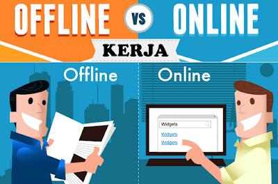 Kerja di Dunia Online vs Kerja di Dunia Nyata
