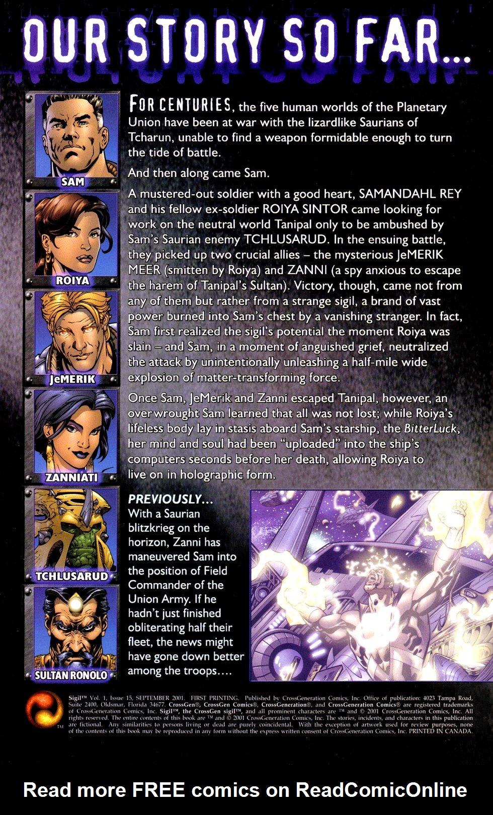 Read online Sigil (2000) comic -  Issue #15 - 2