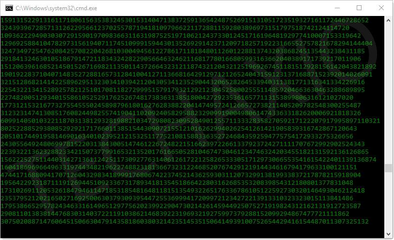 matrix effect on command prompt