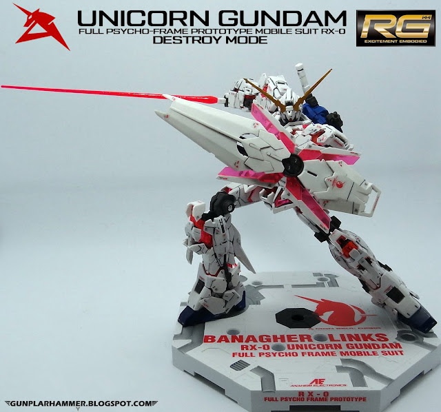 RG 1/144 Unicorn Gundam Destroy RX-0 Realgrade no paint