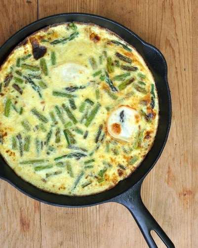 Never-the-Same-Twice Frittata, a Master Recipe ♥ KitchenParade.com. Silky custard + fresh or leftover veggies + pockets of warm cheese. Low Carb. Low Cal. High Protein. WW4.