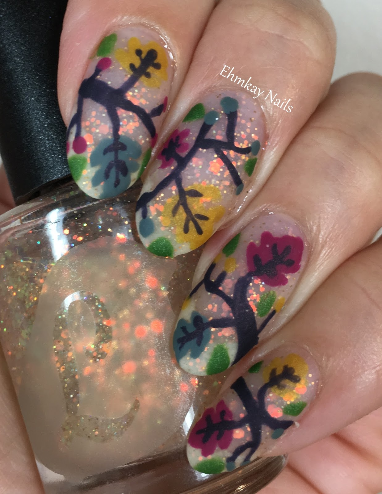 ehmkay nails: Lou It Yourself Fallfetti Collection Nail Art: Autumn ...