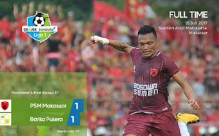 PSM Makassar vs Barito Putera Imbang 1-1 #Liga1
