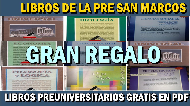 DESCARGA GRATIS LIBROS DE LA PRE SAN MARCOS