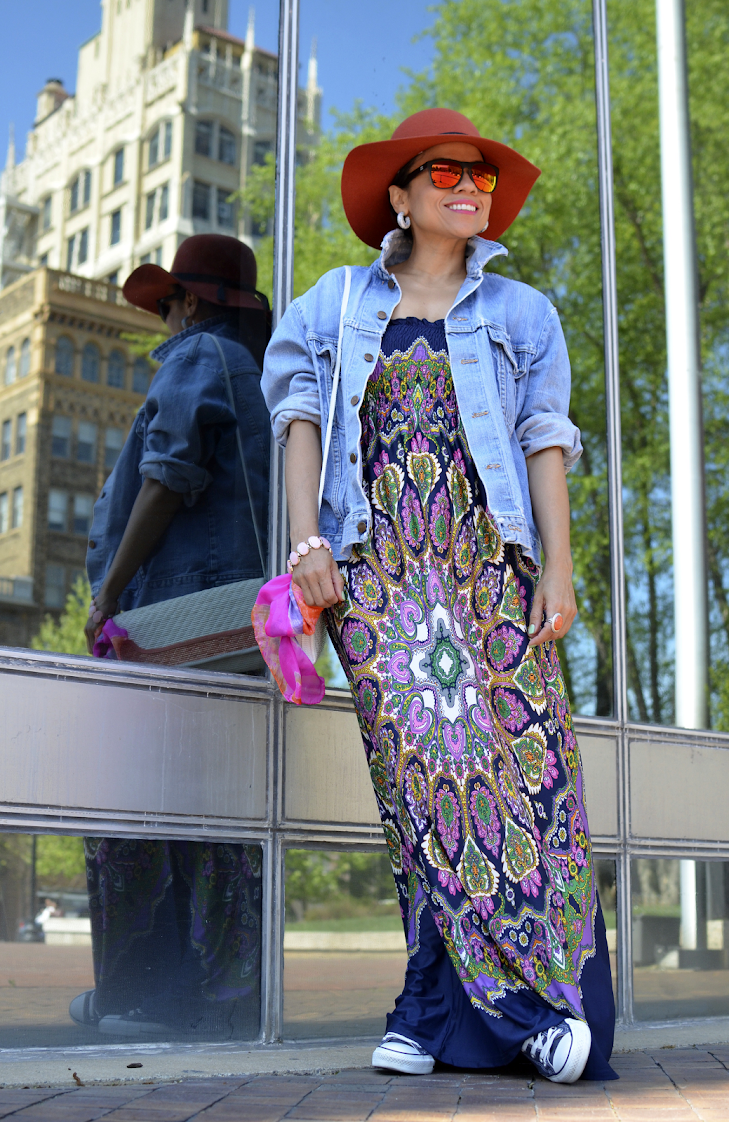 Maxi Dress with Converse Sneakers