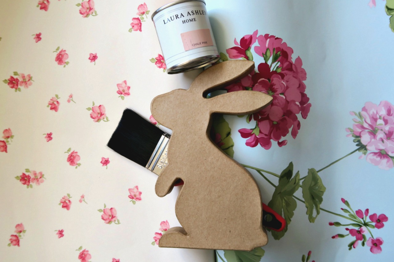 Diy Easy Bunny Decoration With Laura Ashley Wallpaper And Paint