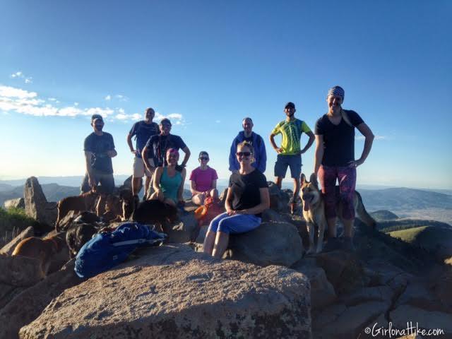 Hiking to Clayton Peak via Guardsmans Pass