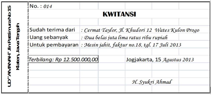 Winartos Website Jenis Jenis Dokumen Transaksi