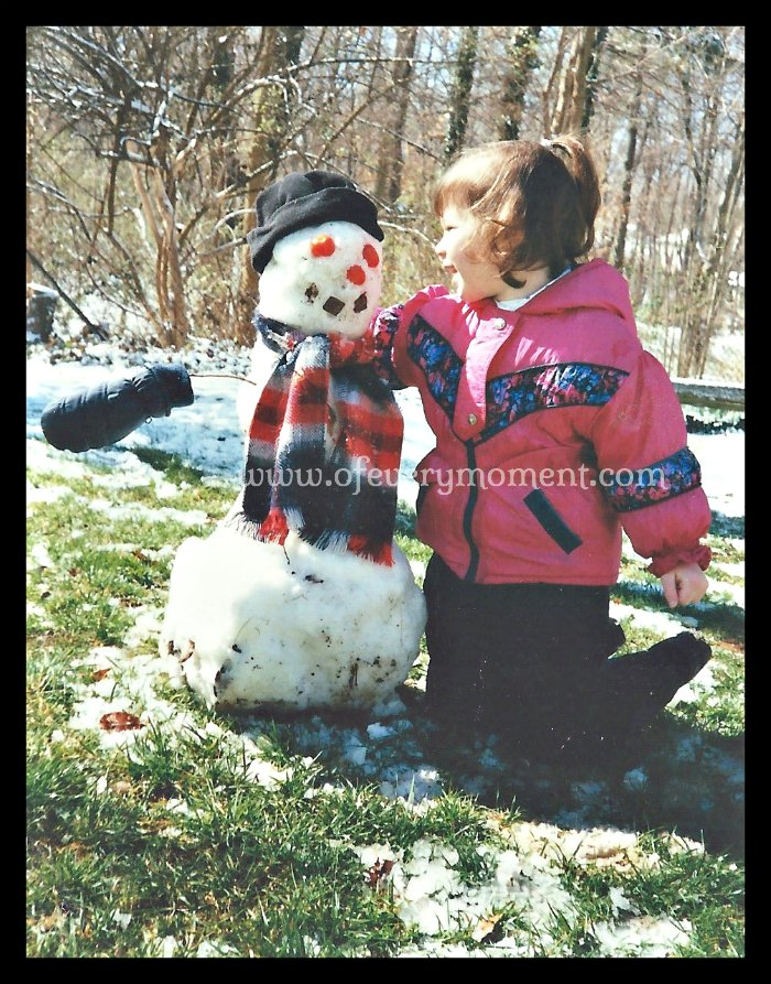 I think I loved this snowman as much as my daughter did!