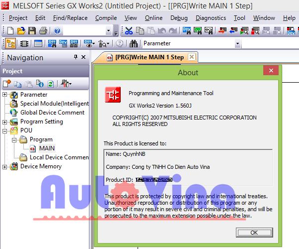 Phần mềm lập trình PLC Mitsubishi GX Works 2