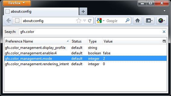 How to fix color management problems in Mozilla Firefox ~ AfterNote