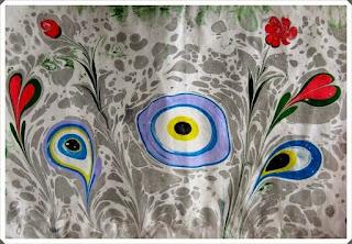 Elişi Ebru Sanatı Örnekleri 7