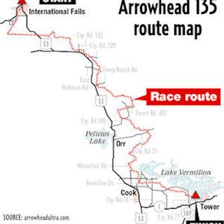 Arrowhead 135 map