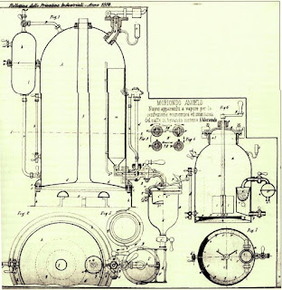 The design for his machine for which Moriondo  was granted a patent in 1884