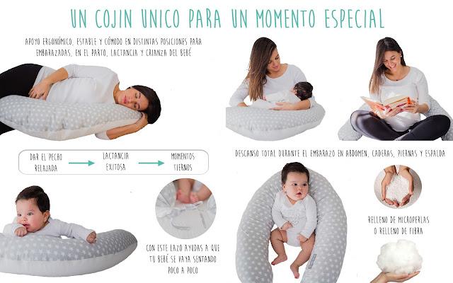 beneficios cojín de lactancia almohada maternal dar el pecho blog mimuselina