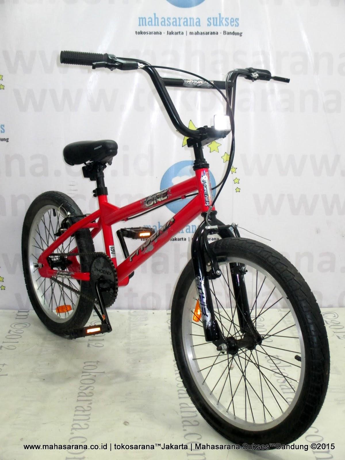Tokosarana Mahasarana Sukses Sepeda Bmx Phoenix 717 6 The One 20 Inci Red
