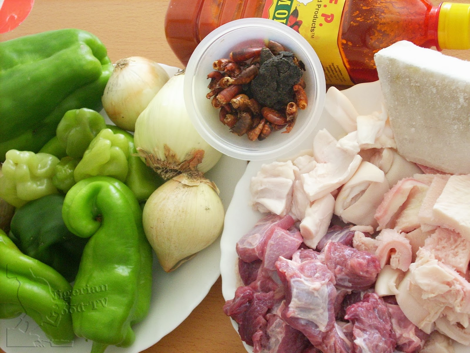 Ofada sauce ingredients,ingredients for ofada stew ayamase