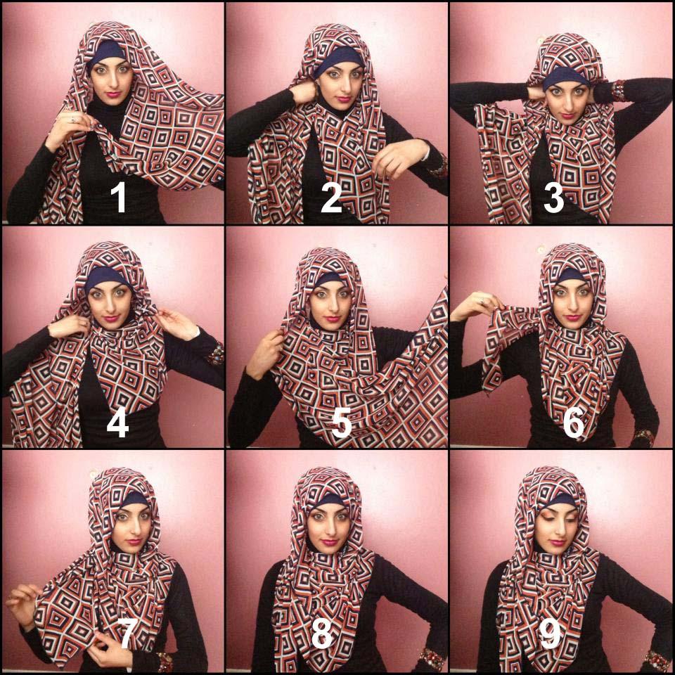 15 Tutorial Cara Memakai Hijab Simple Terbaru 2017