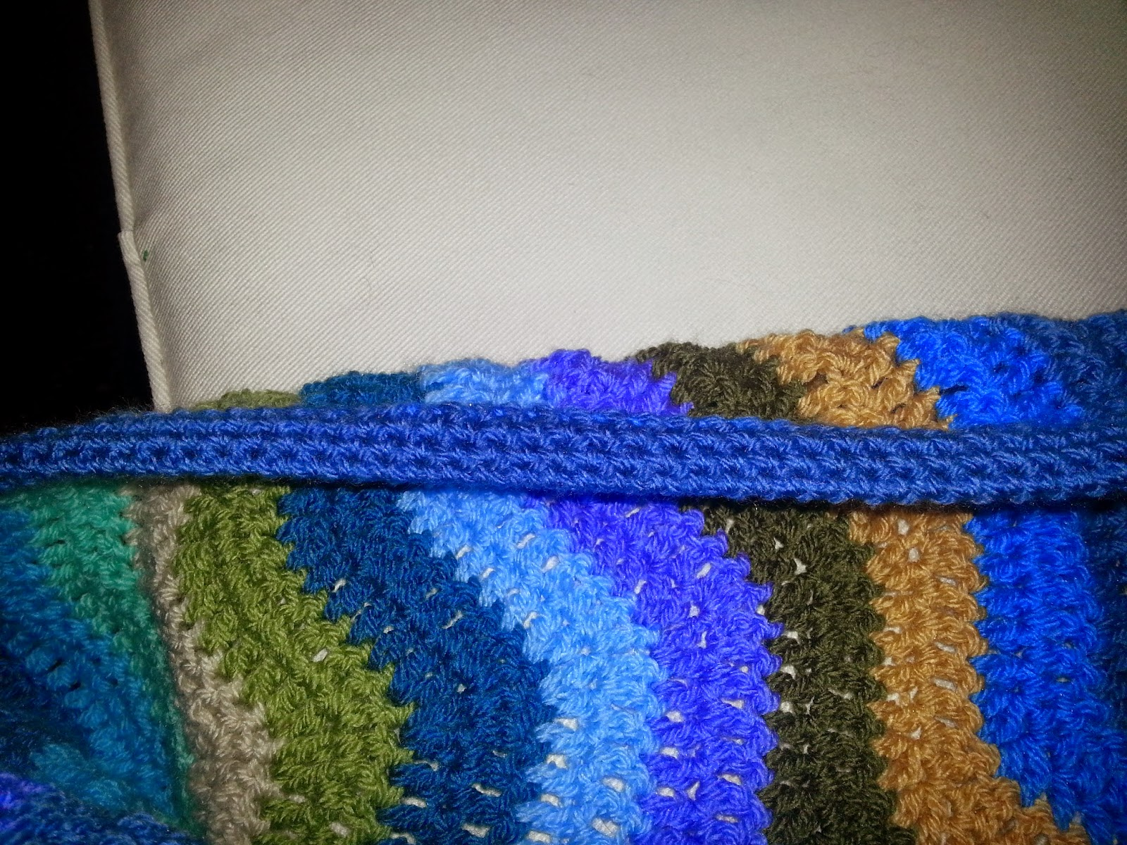 Lilly My Cat Crochet Rolled Edging On Attic 24 Coast Blanket