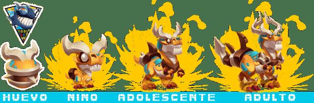 Etapas de crecimiento del Noble Dragón Supremacía