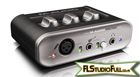 Fast Track 2 M-Audio - Interface para Home Studio.png