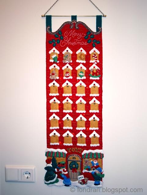 Saumað pallíettu jóladagatal