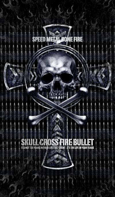 Skull cross fire bullet