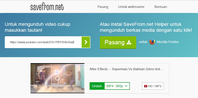 Cara Mendownload Video Dari Youtube di Android dan Browser Komputer Terbaru