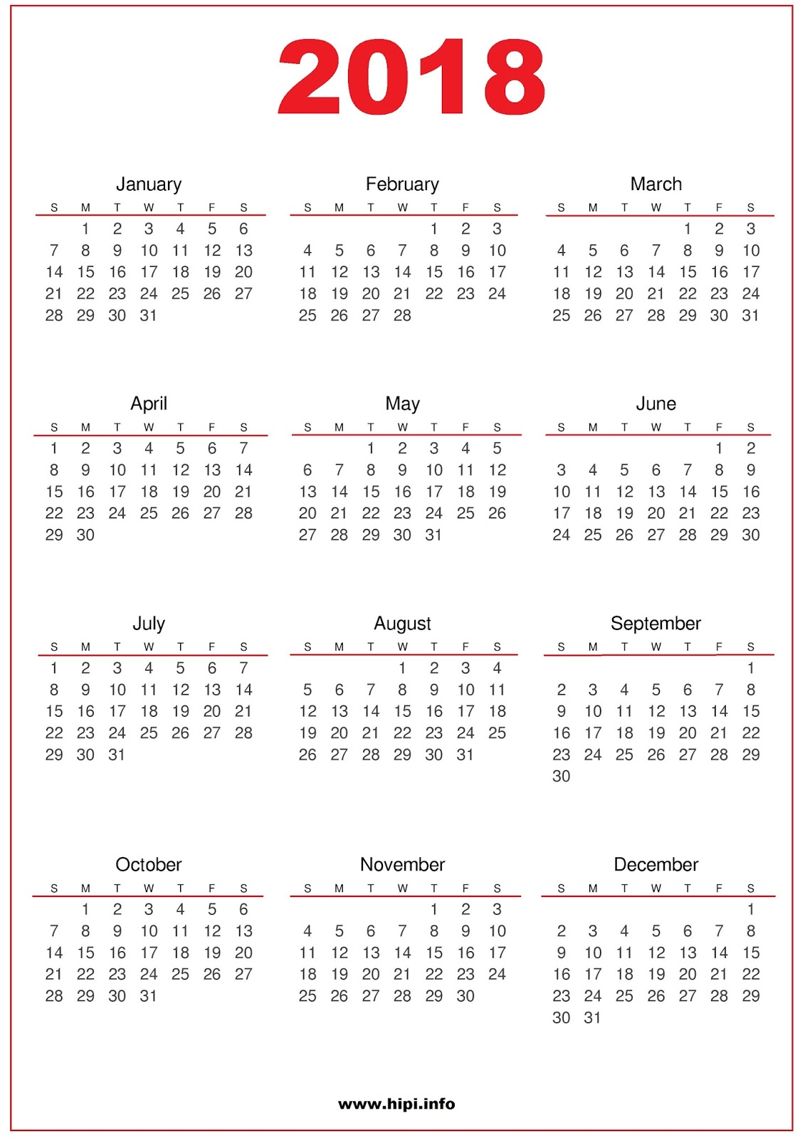 2018 Calendar Printable Free : Twitter headers facebook covers wallpapers calendars