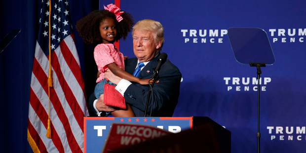 Donald Trump suffers 'awkward' moment at Wisconsin rally