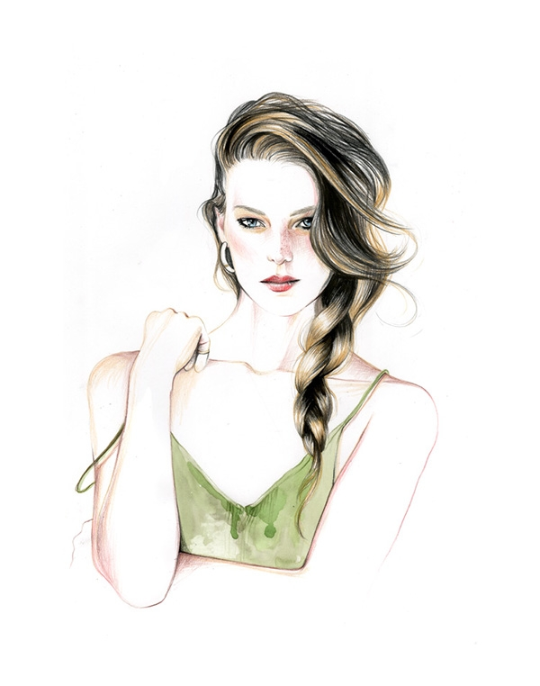 04-Caroline-Andrieu-Fashion-Shows-Distilled-into-Drawing-Portraits-www-designstack-co