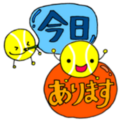 Sticker for supporting tennis club