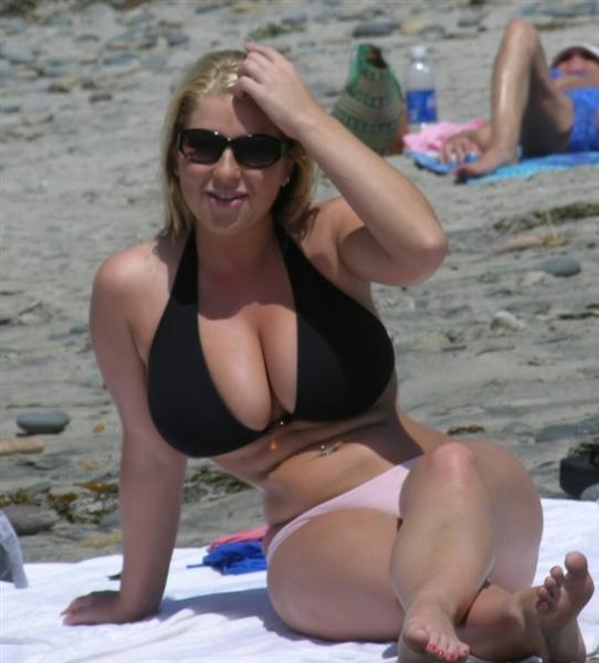 BoftheD: Massive bikini boobs! Huge tits on the beach!