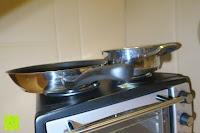 Pfanne zu groß: Andrew James – 23 Liter Mini Ofen und Grill mit 2 Kochplatten in Schwarz – 2900 Watt – 2 Jahre Garantie