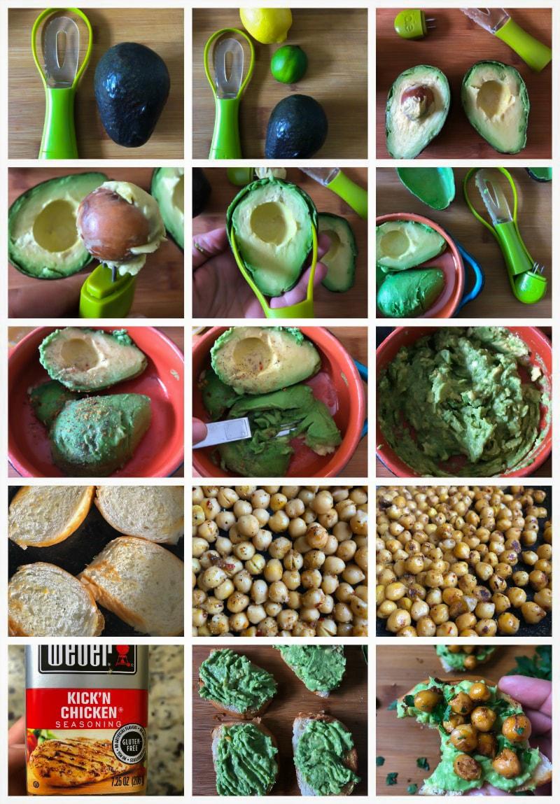 Avocado Toast with Spicy Chickpeas #recipe