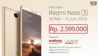Harga Resmi Xiaomi Redmi Note 3 di Indonesia