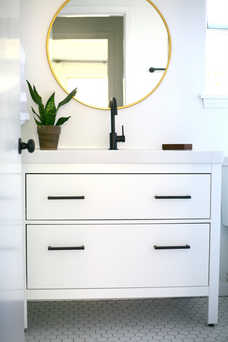 My proudest IKEA hack! Classy modern vanity from an IKEA ...
