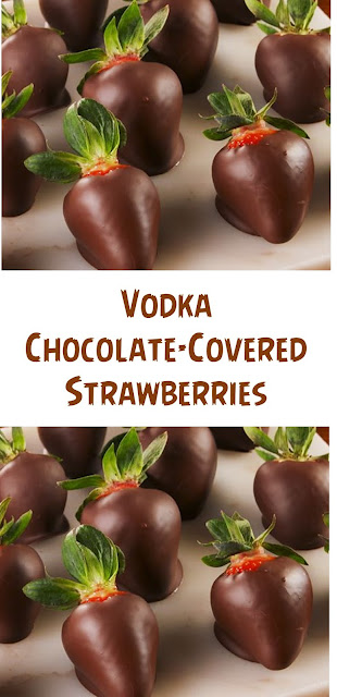 Vodka Chocolate-Covered Strawberries