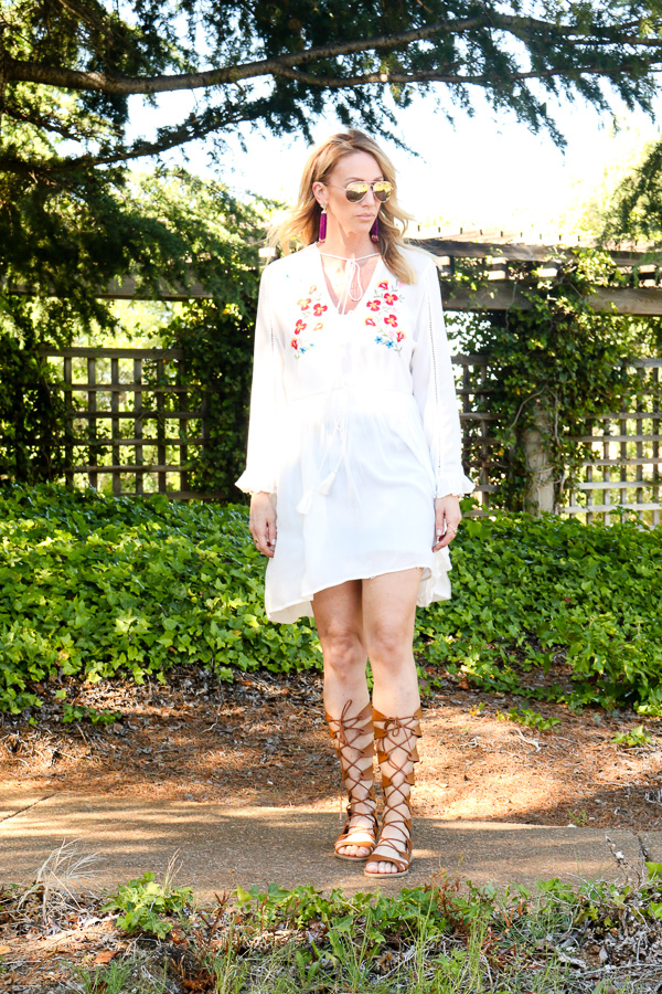 cognac brown gladiator sandals