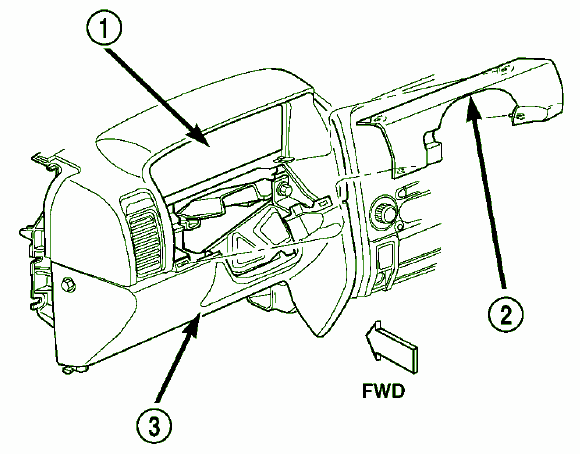 CarFusebox: Instrument panel Fuse Box Diagram for 2003