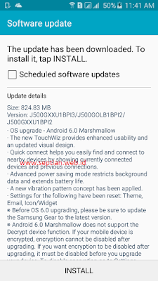 changelog marshmallow update samsung galaxy j5