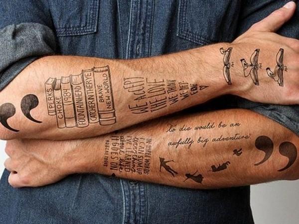 tatuaje en antebrazo para hombre
