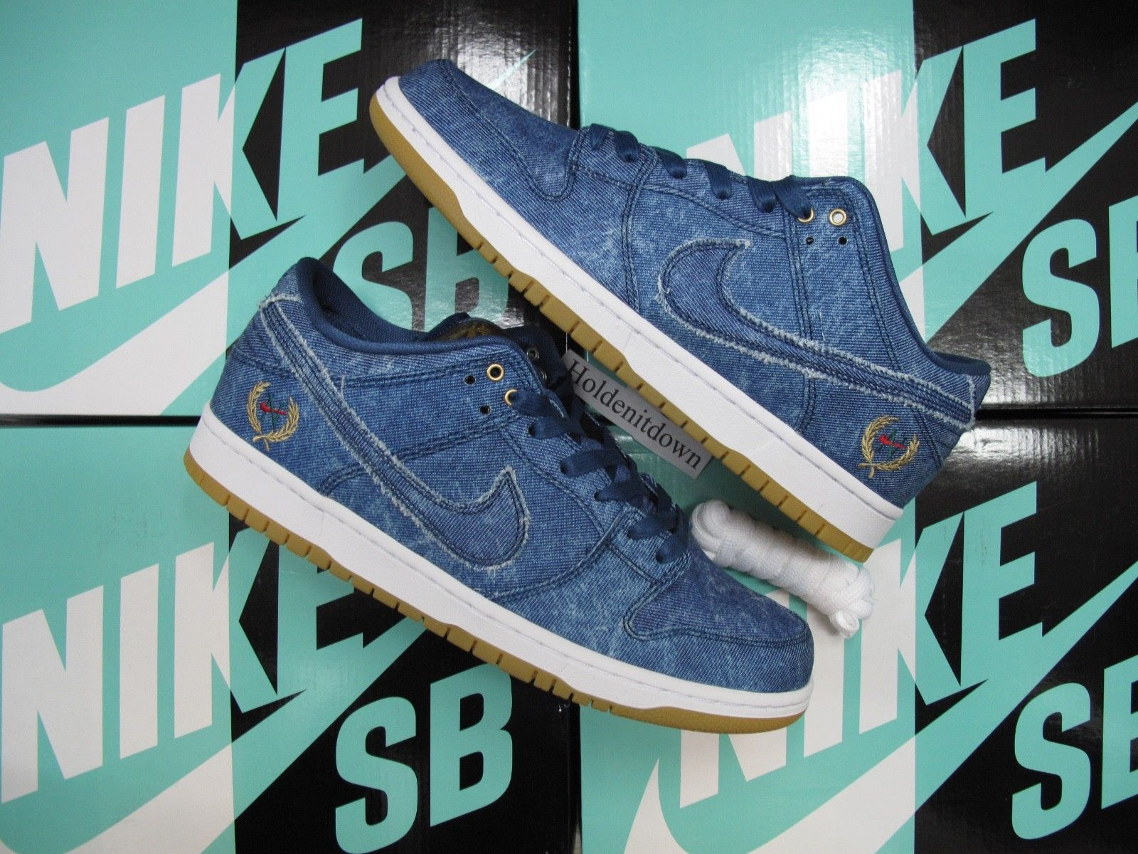 Brand New In Box Nike SB Dunk Low TRD QS Utility Blue 883232 441 Notorious BIG These Will Come The Original With Tissue Paper And