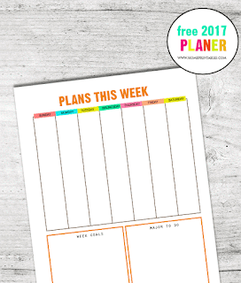 free 2017 colorful planner