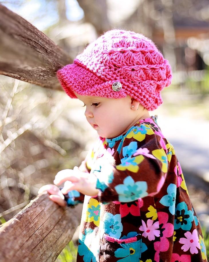 Audrey Newsboy Hat Crochet Pattern Baby To Woman Crochet Dreamz