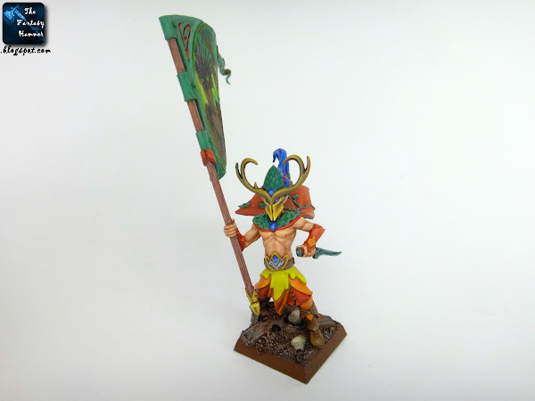 Wood Elves Standard Bearer freehand conversion