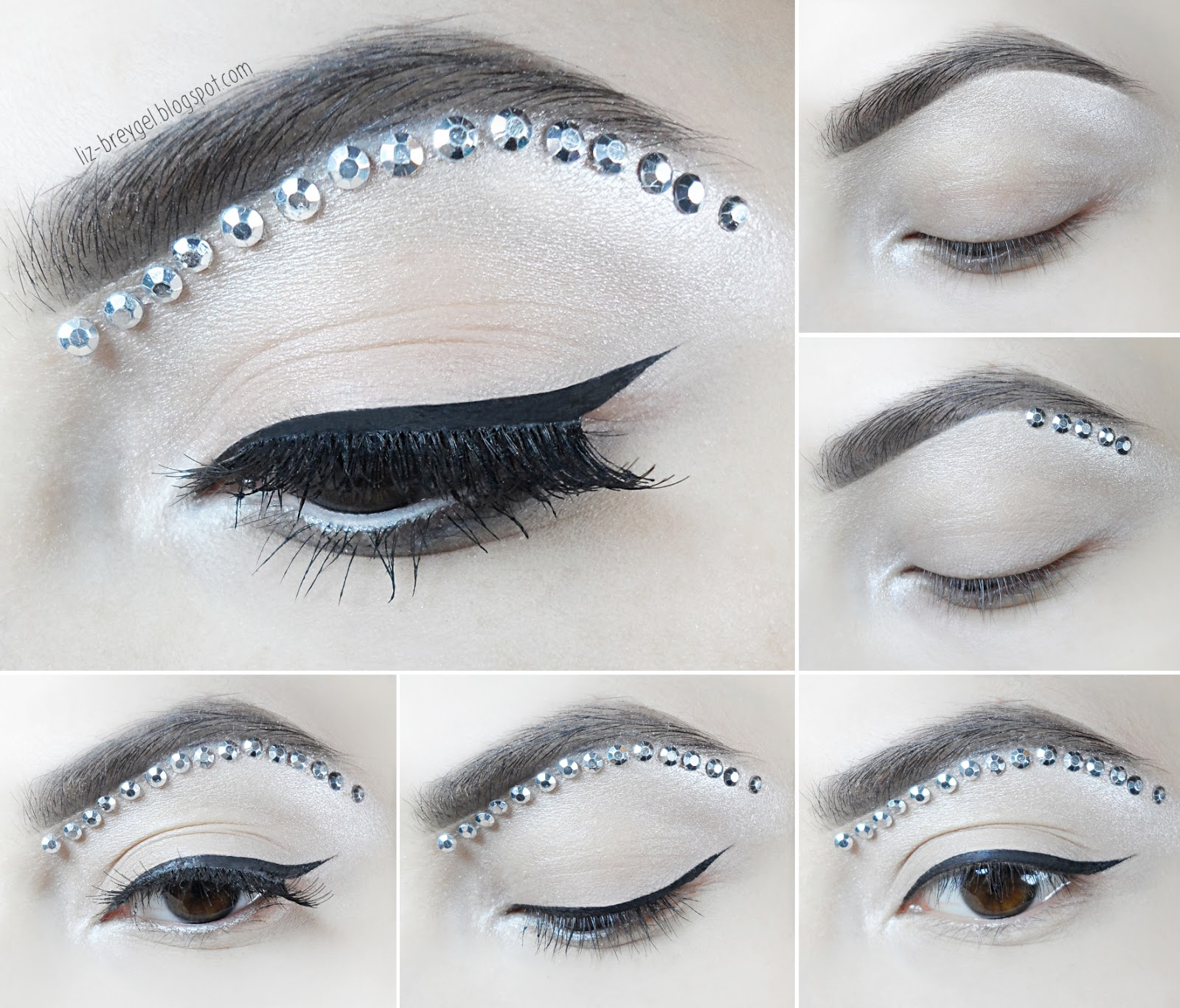 liz breygel rhinestone makeup bbloggers beauty makeup eyeliner