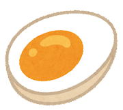 ラーメンのトッピングのイラスト(味玉)